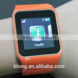 "2014 Hand Watch Mobile phone 1.55"" touch screen GSM card watch phone with bluetooth"