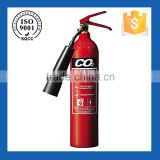 Carbon dioxide agent fire extinguisher chrome with ISO, CE, EN3