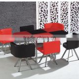 Yunzhang hot sales cheap and colorful restaurant tables and chairs foshan furniture wholesale in china
