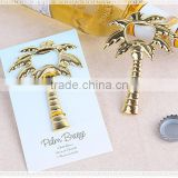 Palm Breeze Gold Bottle Opener Beach Wedding Favors
