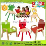 2016 New Arrival Kindergarten Furniture Kids Preschool Chairs Wooden Educational Children Table and Chair DC008                                                                         Quality Choice                                                     Most