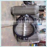 Wafer type NBR/EPDM rubber lined butterfly valve, small operating torque