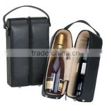 IN STOCK - New Arrival Top Grade black pu leather wine carrier                                                                         Quality Choice