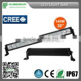 30 inch 140W led light bar offroad cree offroad led light bar ,single row led light bar SRLB140-C4