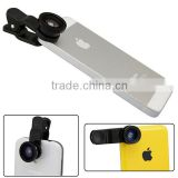 LQ- 001 3 IN 1 Fish Eye, Macro, Wide Range Universal Clip Photo Lens For Smart Phones, Tablet PC,LapTop.