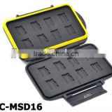 JJC MC-MSD16 Rugged water-resistant Memory Card Case (16x microSD / microSDHC Cards)