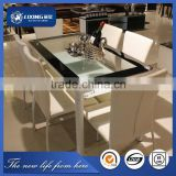 LT1051+LY1051#Imported glass dining table,Dining room furniture made in china,Glass dining table