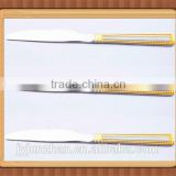 Stainless steel gold plated table knife made by Junzhan China