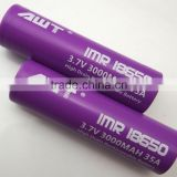 AWT 18650 35A 3000mah 18650 ecig battery vapor e cig battery vape new e-cig submod tc 50w vape bbtank vape pen