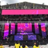 P10.416 outdoor led mesh curtain rental screen for stage concert for south america market