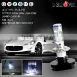 automobiles & motorcycles 3600lm H11 h4 h7 9005 9006 philipss lumileds xemon FANLESS h4 car headlights LED headlight