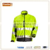 high visibility softshell jacket with stretchable reflective tape, comply with AS/NZS 4602.1:2011 Class D/N
