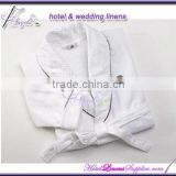 shawl collar wholesale white terry spa robe, terry bath robes in shawl collar style for hotels, motels, spas, clubs