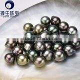 Yuansheng high quality baroque style Tahitian black pearl beads in bulk 8-16mm