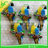 custom best sale promotion birds resin magnet
