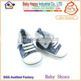 Latest design fashionable baby denim shoes