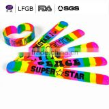 Dongguan China supplier beautiful gift silicone bracelets&silicone slap wristband/band