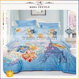 2016 China supplier manufacturing textile reactive printed 205TC 100% cotton bedsheet wholesale custom bedding set