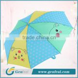 17 inch bright colorful animal cartoon printing mini child umbrella for rain