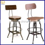 Modern Design Commercial Club Plywood Metal Bar Stools Cafe Metal High Bar Chairs