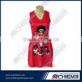 OEM service supply netball jersey,sublimated netball uniforms,custom design netball dresses