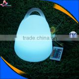 2015 professional changed colors indoor battery operated led table lamp with remote control