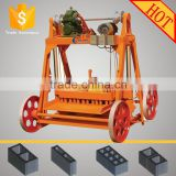 2015 factory directly no need pallets high quality QMJ4-45 hydraform mobile block brick making machine price
