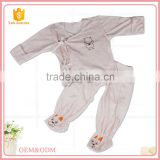Comfortable customized bamboo fiber cotton material baby romper baby clothes