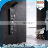 Top selling hot cold water control shower panel with body massage jets