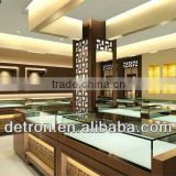 fashion jewelry kiosk showcase design with light for shopping mall
