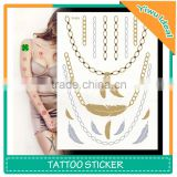 Wholesale Body Flash Glitter Gold Foil Temporary Tattoos