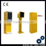 high quality ticket dispenser parking system/ auto pay car parking system with road safety barrier