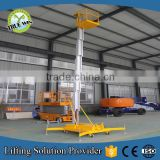 Light weight electric hydraulic aluminum mast vertical man lift for repairing and installation