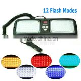 86 LED warning lights White/yellow/blue/red Emergency light Vehicle Car Truck Visor Strobe Lights Flash light