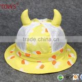 Sweet Pattern Design Baby Cap and Kids Bucket Hat Ancient Devil Bull Horn Viking Helmet Lastest Style