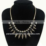 Rivet Necklace with Rhinestone-N330046