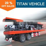 TITAN 2 axle 3 axles 20ft 40ft Bogie suspension semi flatbed trailer for sale