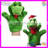 A043 Soft Snake Puppet Set Stuffed Toy Green Snake Plush Hand Puppet