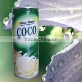 canned coconut water beverage