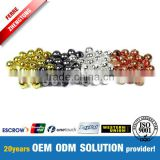 Tungsten Slotted Beads Gold/Silver/Copper