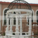 cheap natural stone white used marble garden gazebo for sale