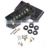 S10032 JB-7 Trailer Wiring Electrical Junction Box 7-pole Terminal Weatherproof Black Poly