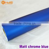 Newest and high quality matte chrome red/ blue color change film / ice blue car wrap deco foil with air free bubble vinyl film