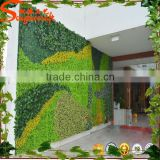 2015 Hot sale artificial grass wall decor plastic gras wall and hanging vertical green wall for plant system flower