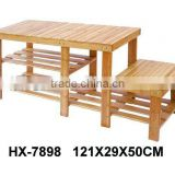 high quality bamboo shelf, cheap bamboo shoes rack stand, wooden rack shelf