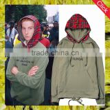 Wholesale fashion custom xxxxl high quality oem hoodies men red plaid hooded pull over 100 cotton hoodies