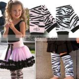 Lovely Baby Girls Elastic Zebra Leg Warmers Cotton Arm Warmers Two Colors Optional