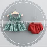 Vintage Bubble Gingham Wholesale Girls Carters Baby Sling Shirt Baby Clothes Sets