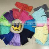 Baby girls icing shorts wholesale Children's Boutique Clothing Cotton Baby Girls Ruffle Shorts