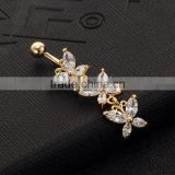 Skull Belly Ring Fake Button Big Fashion Crystal Piercing Jewelry